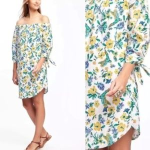 Old Navy Tropical Floral Off The Shoulders Dress